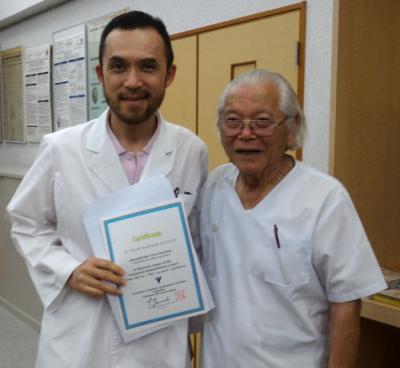 山元敏勝先生と当院小出医師
